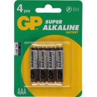 GP Super Alkaline Batterij AAA 4 Stuks