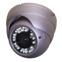 Vandaalbestendige Infrarood Dome Camera 600TVL 1/3 SONY CCD  9-22mm varifocaal