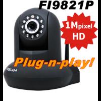 Foscam FI9821P Wifi Pan-Tilt HD Camera Plug-n-Play Zwart