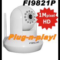Foscam FI9821P Wifi Pan-Tilt HD Camera Plug-n-Play Wit