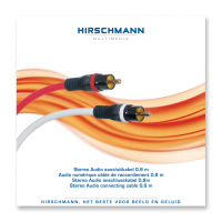 High-End Stereo RCA (Tulp) Kabel Hirschmann 0,9meter