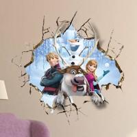 Disney Frozen Muursticker - All in the Family- 60 x 60 cm