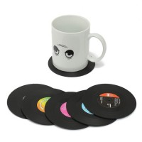 LP Onderzetters 6 stuks / Retro Vinyl LP onderzetters