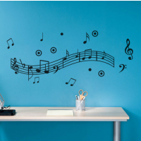 Music notes dance sticker