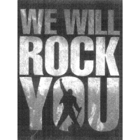 We will rock you sticker