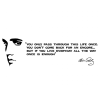 Elvis Presley quote you only pass through this life once sticker