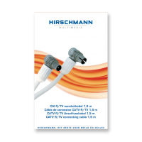 Hirschmann Koka799 Coaxkabel 1,5 meter met Coax IEC connector male en female