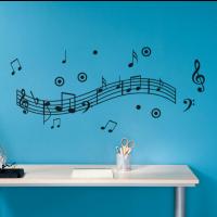 Music notes dance sticker