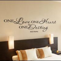 One love One heart One Destiny sticker