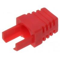 Interne kabel huls rood (RJ45 boot) voor RJ45 connector