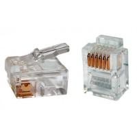 Modulaire 6 pins telefoon connector (6p/6c) RJ12