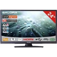 Salora LCD TV 24 inch CanalDigitaal gekeurd! ook geschikt voor Ziggo en Digitenne 12/230volt