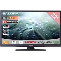 Salora LCD TV 22 inch CanalDigitaal gekeurd! ook geschikt voor Ziggo en Digitenne 12/230volt