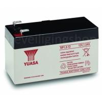 Yuasa Loodaccu 12V / 1,2Ah  Voornamelijk toegepast in alarmsystemen