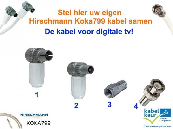 Bekend Stel Hier Uw Eigen Hirschmann Koka799 Coaxkabel Samen EI83
